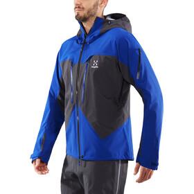 Haglöfs Spitz Jacket Herre magnetite/cobalt blue